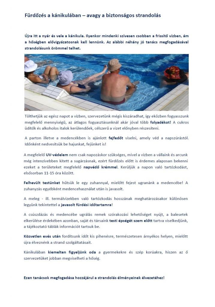 Fürdőzés kánikulában avagy a biztonságos strandolás